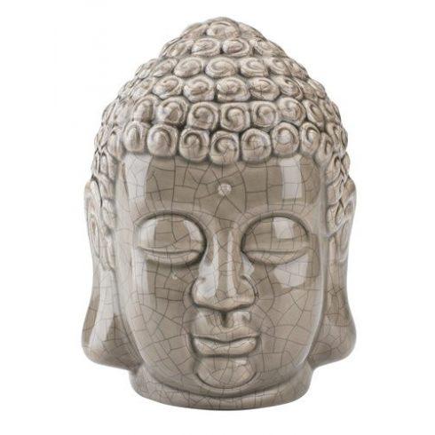 Buddha fej zománcozott kerámia dísz