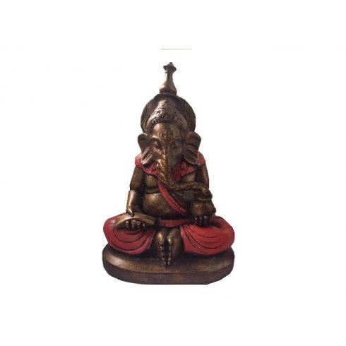 Ganesha díszes piros - 20 cm