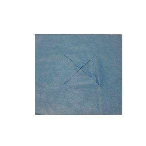 Higiéniai fej-láb alátét X kivágással 10 db- kék