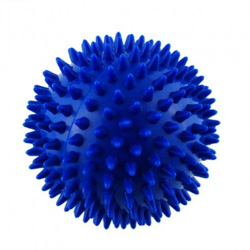 Masszírozó, tüskés labda 10 cm - kék