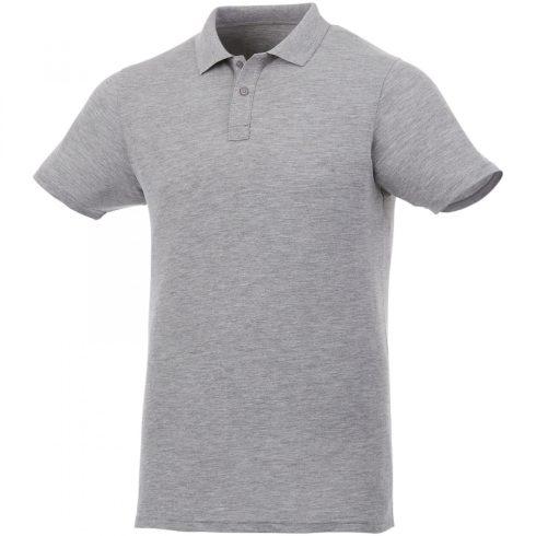 Pamut piké uniszex póló szürke  -S méret