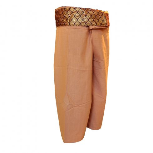 Thai masszázs öltözet, jóga nadrág - barna