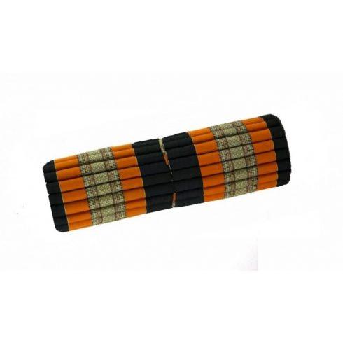 XXL Tekerhető thai masszázs matrac FEKETE-NARANCS-PÁLMAMINTÁS- 110 cm