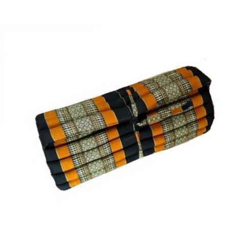 Tekerhető thai masszázs matrac, FEKETE-NARANCS-PÁLMAMINTÁS - 75 cm