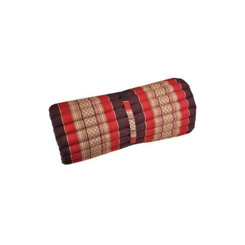 Tekerhető thai masszázs matrac, BORDÓ-PIROS-PÁLMAMINTÁS -75 cm