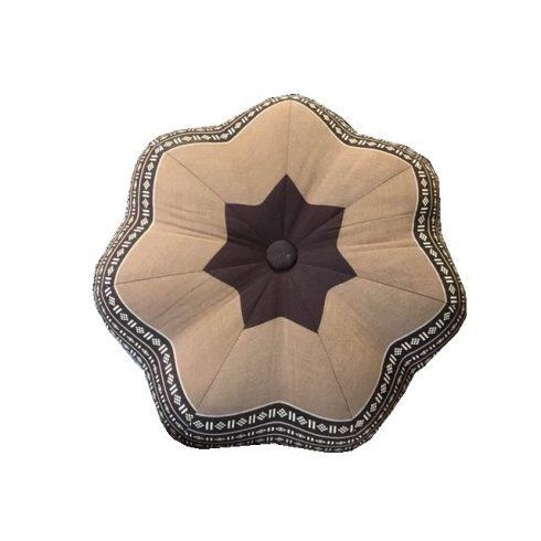 Thai virág alakú ülőpárna, meditációs párna BARNA-ELEFÁNTMINTÁS