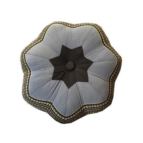 Thai virág alakú ülőpárna, meditációs párna KÉK-ELEFÁNTMINTÁS