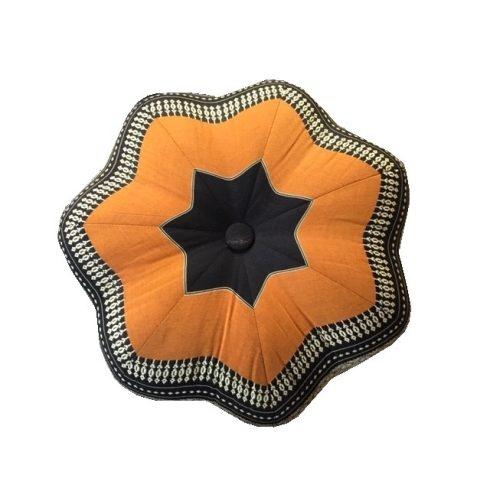 Thai virág alakú ülőpárna, meditációs párna NARANCS-PÁLMAMINTÁS