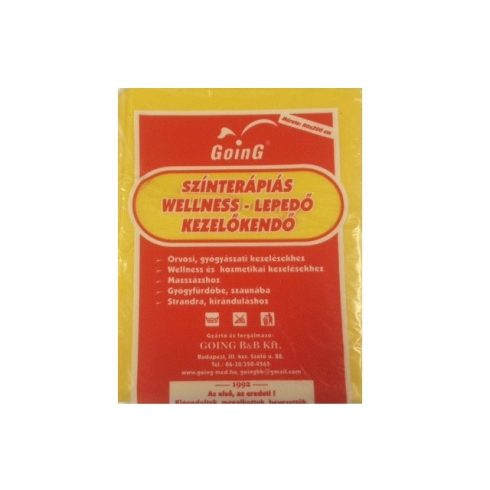 Wellness színterápiás kezelőkendő 80 x 200 cm - napsárga