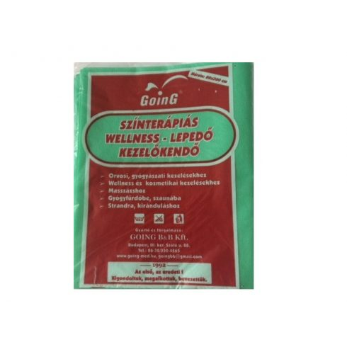 Wellness színterápiás kezelőkendő 80 x 200 cm - zöld