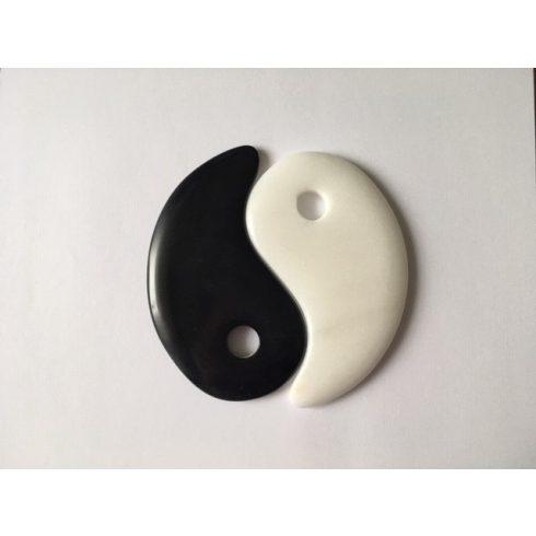Yin Yang kőpár ajándék tartóval 10 cm